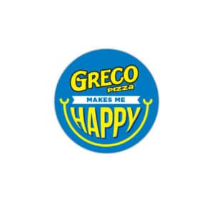 Greco Pizza Makes Me Happy Button
