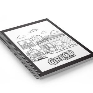 Note Book Coil Bound Cartoon Cover