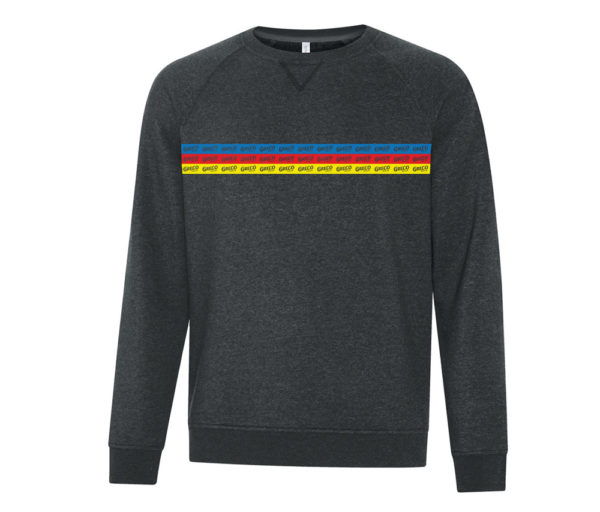 Band of Greco Across Chest W/ Strips Sweatshirt